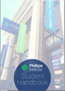 Phillips Institute Student Handbook image of front cover
